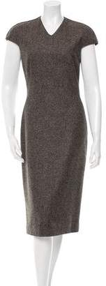 Calvin Klein Collection Wool Donegal Dress