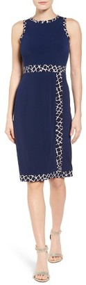 Women's Michael Michael Kors Contrast Border Jersey Faux Wrap Dress $98 thestylecure.com