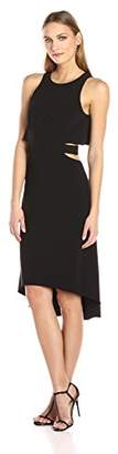 Halston Women's Sleeveless Round Neck Dress with Flowy Back and Cut Out