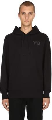 Y-3 Logo Detail Cotton Sweatshirt Hoodie