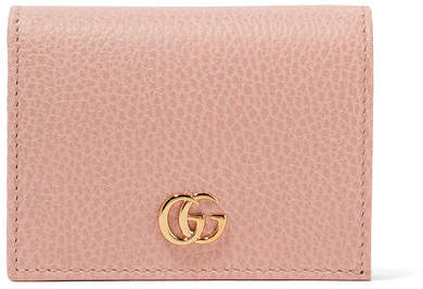 Gucci - Marmont Textured-leather Wallet - Pastel pink