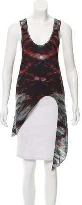 Kimberly Ovitz Printed Asymmetrical Top