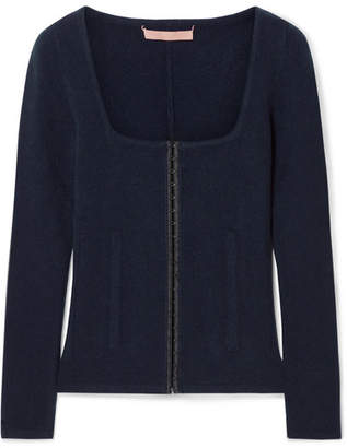 Brock Collection Kennedy Wool And Cashmere-blend Sweater - Navy
