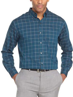 Van Heusen Long Sleeve Grid Button-Front Shirt