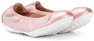 Geox Kids slip-on ballerina shoes