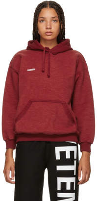 Vetements Red Fitted Inside-Out Hoodie