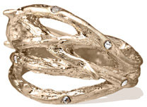 Worn Gold Thorn Ring