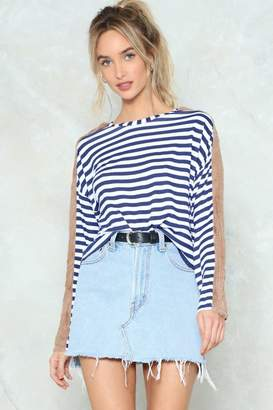 Nasty Gal Point of Difference Striped Sweater