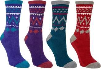 Muk Luks Jojoba Fairisle Socks Set of Four