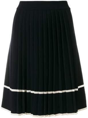 Parker Chinti & stripe pleated skirt