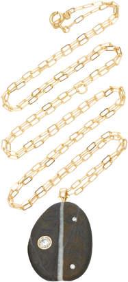 Cvc Stones Lizzie 18K Gold Stone And Diamond Necklace