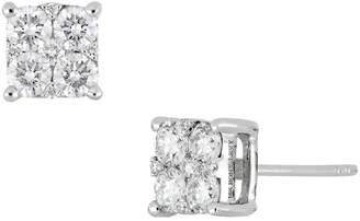 Bony Levy Square Diamond Earrings
