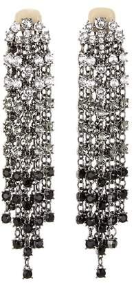 Oscar de la Renta Crystal Cascade Waterfall Drop Earrings