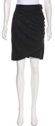 Robert Rodriguez Ruched Knee-Length Skirt
