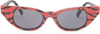 Le Specs The Breaker tiger-print acetate sunglasses