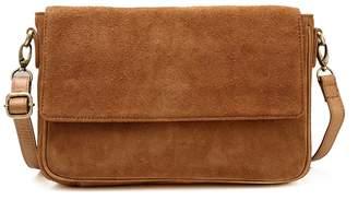 Vicenzo Leather Iva Suede leather Fringe Crossbody Handbag