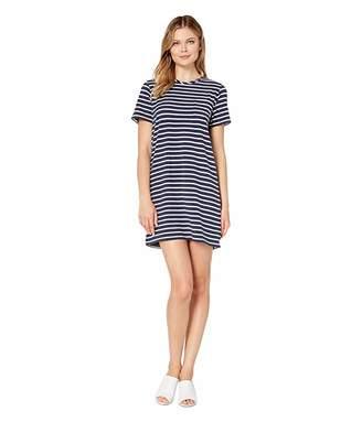 Lilla P Short Sleeve Jersey Stripe Pocket Dress