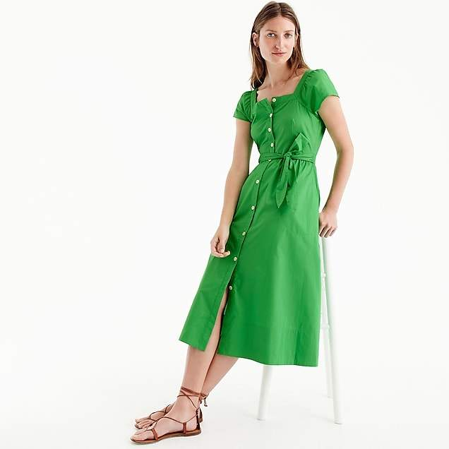 Short-sleeve shirtdress