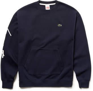 Lacoste Unisex LIVE Crew Neck Embroidered Fleece Sweatshirt