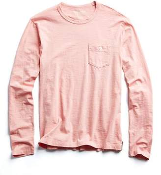 7ee63fe9c2649e Todd Snyder Made in L.A. Slub Jersey Long Sleeve T-Shirt in Fresh Peach
