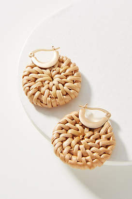Anthropologie Woven Hoop Earrings