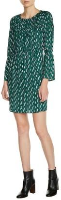 Women's Maje Bell Sleeve Print Dress $395 thestylecure.com