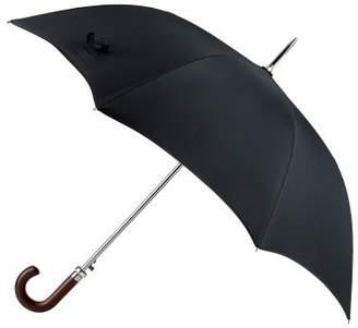 totes Premium Automatic Walker Wood Crook Plain Black Umbrella