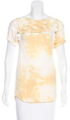 Isabel Marant Distressed Short Sleeve Shirt