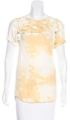Isabel Marant Distressed Short Sleeve Shirt