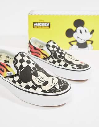 b99e3311ddf Vans X Disney Classic Slip-On mickey sneakers