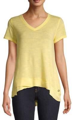 Calvin Klein Layered Asymmetrical-Hem Tee