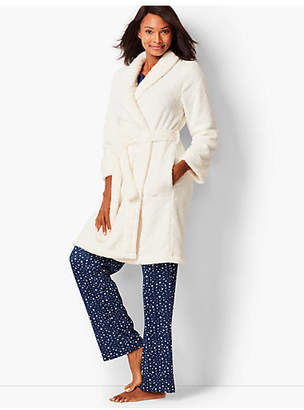 Talbots Diamond Fleece Robe