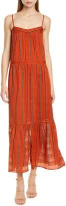 BA&SH Kyo Tiered Cotton Maxi Dress