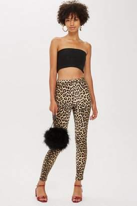 Topshop Leopard Print Joni Jeans