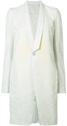 Rick Owens spider-web effect coat