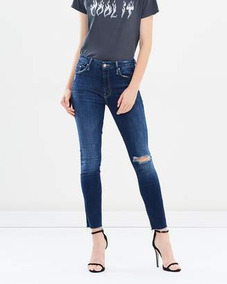 Mother High Waist Looker Ankle Fray Jeans