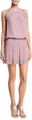 Ramy Brook Hilary Studded Lace-Up Short Dress