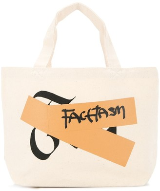 Facetasm logo small shopper tote bag