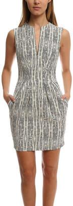 L'Agence June Split Neck Sleeveless Dress