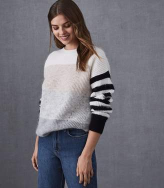 Reiss Haidee Striped Chunky Knitted Jumper