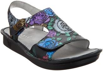 Alegria Leather Embroidered Sandals - Viki