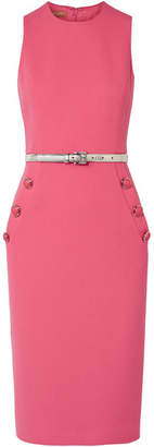 Michael Kors Embellished Wool-blend Bouclé Midi Dress - Bubblegum