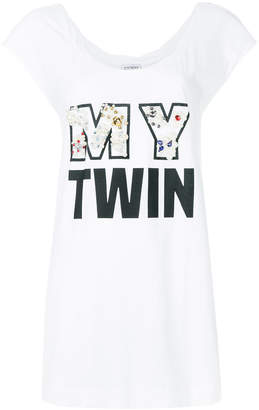 Twin-Set My Twin slogan print top