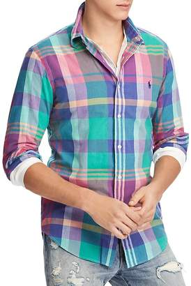 Polo Ralph Lauren Madras Classic Fit Button-Down Shirt