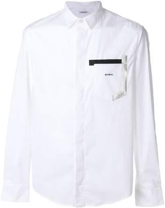Dirk Bikkembergs contrast pocket shirt
