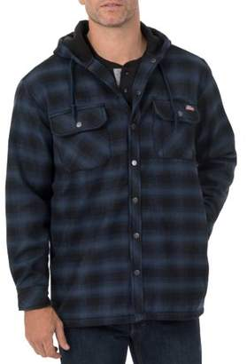 Dickies Genuine Big Men's Twill Polar Fleece Lined Shirt Jacket