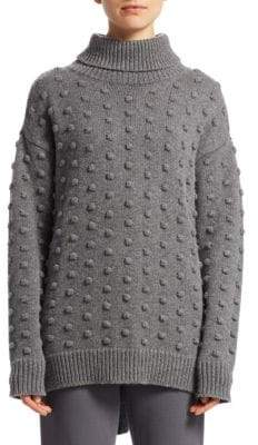 Lela Rose Dotted Turtleneck Sweater
