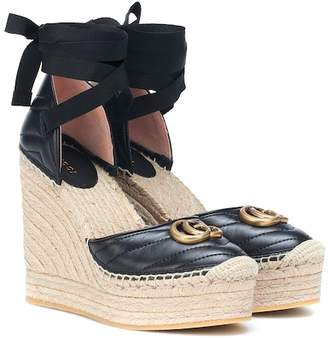 f9bd633d033a Gucci Double G leather wedge espadrilles