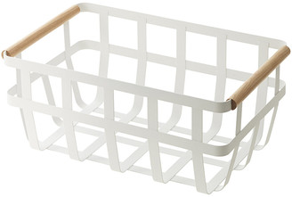 Yamazaki Tosca Storage Basket with Two Handles - White