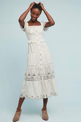 RAHI Cali Frances Embroidered Buttondown Dress